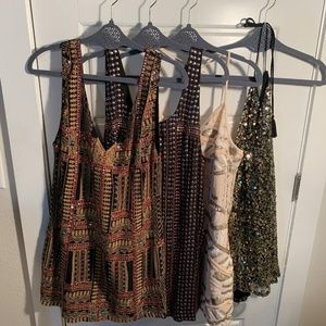 Free People Dresses - FOUR SPARKLY SEXY SWING DRESSES